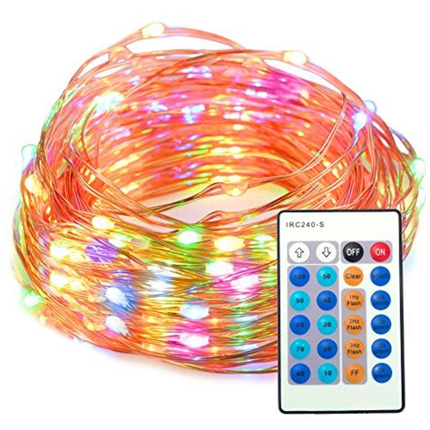 indoor string lights amazon taotronics dimmable waterproof 100 led string lights with
