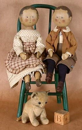 gails vintage doll patterns sympletymes cloth art by sherrie nordgren gail wilson
