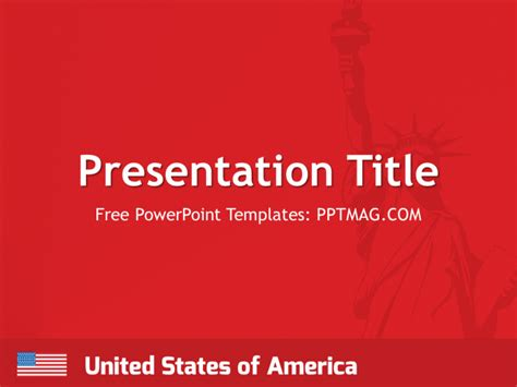 free usa powerpoint template pptmag