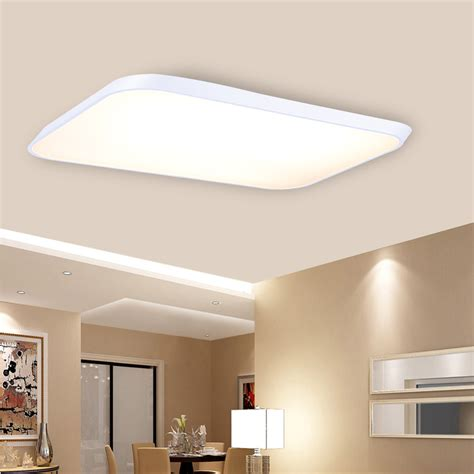 Led Ceiling Lights For Kitchens Ultra Thin 48w Led Ceiling Lights Kitchen Bedroom L Recessed Remote Dimmable Ebay