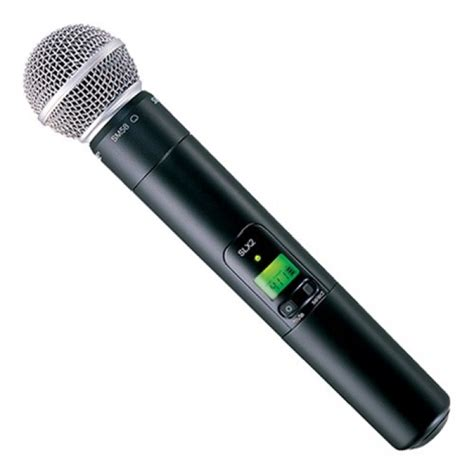 Mic Wireless Shure U 88884 Mic Handle jual shure slx24 sm58 wireless microphone system