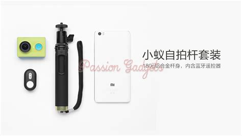 Xiaomi Original Bluetoothwireless Remote Shutter Yi Black original xiaomi yi selfie stick bluetooth