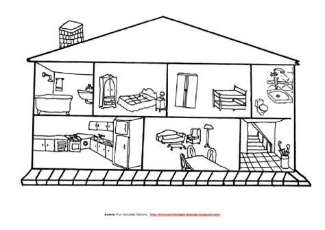 imagenes para pintar interiores de casas la casa peque 241 o librito adaptado de las partes de la casa