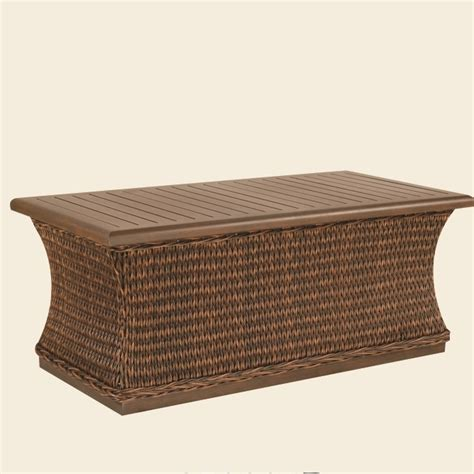 patio renaissance monticello woven coffee table