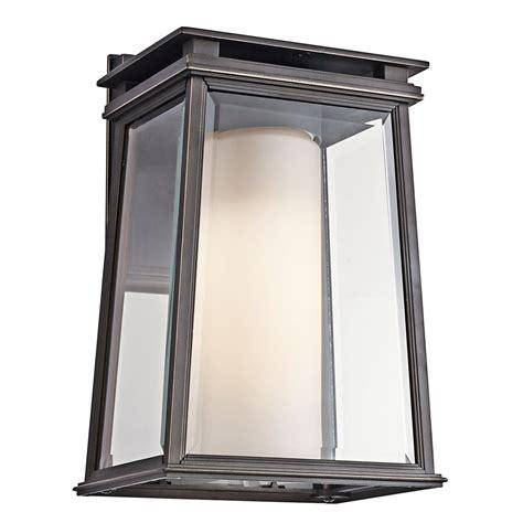 Exterior Sconce Lighting Fixtures Kichler Lighting 49401rz Lindstrom Modern Contemporary Outdoor Wall Sconce Kch 49401rz