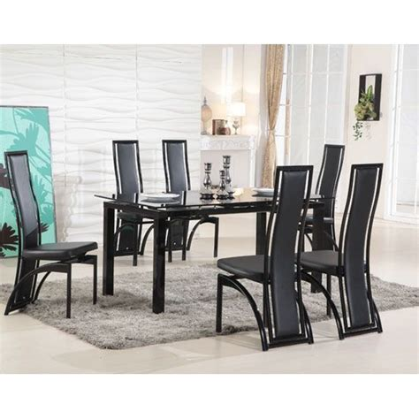 Black Glass Dining Room Table And Chairs by 23 Best Extendable Glass Dining Table Images On