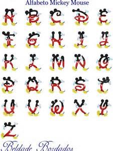 alfabeto mickey mouse cole 231 227 o de matriz de bordado r