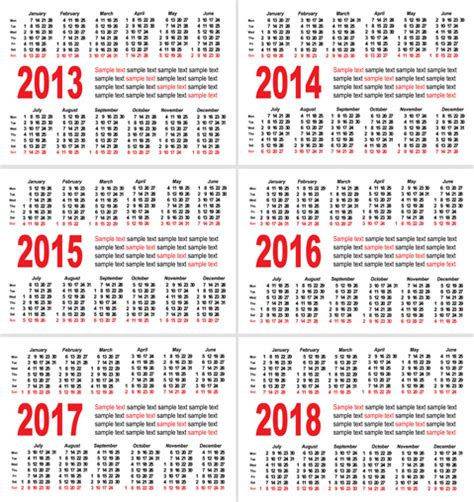 Calendar 2018 Malaysia Vector Set Of1318 Calendars Template Vector Graphic Free Vector