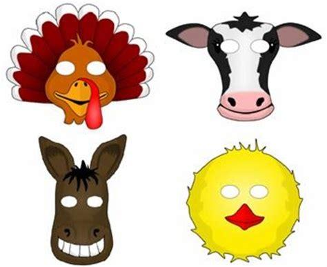 printable mask farm animals printable farm animal masks for kids kids pinterest