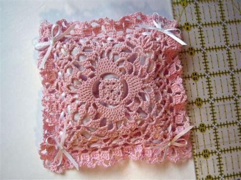 crochet lavender bags pattern free satin lined crochet lavender sachet bag pinterest