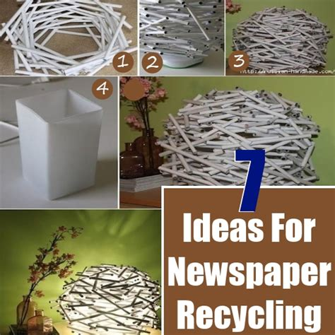 diy home office redecorating ideas recycled things 7 diy ideas for recycling newspaper diy home things