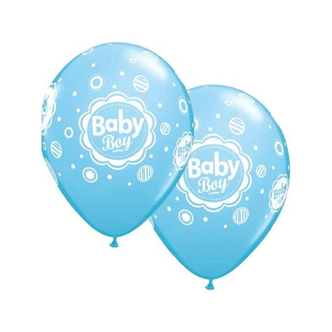 baby boy shower balloons blue baby boy balloons 6 pack