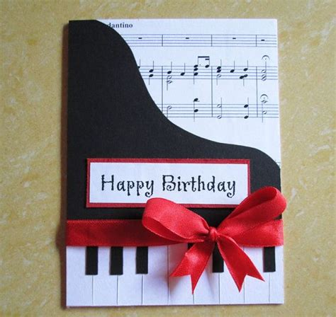 themed birthday cards piano happy birthday card music themed birthday greeting