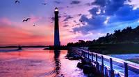 Pics Photos  Lighthouse At Sunset Wallpaper