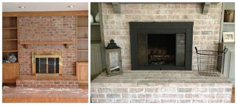 Before And After Brick Fireplace by How To Whitewash A Brick Fireplace 7 Easy Steps