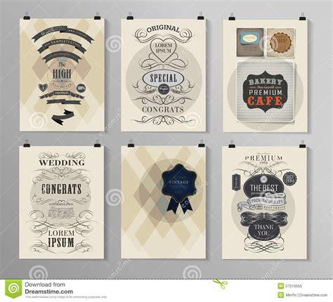 brochure template vintage set of poster flyer brochure design templates stock