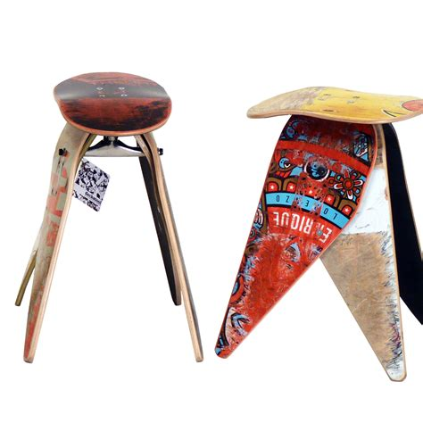 Skateboard Stool by Recycled Skateboard Stool Stools Will Vary From The