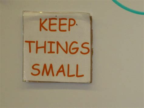 Keeping Things Small if it s meant to be it s up to me macserve series