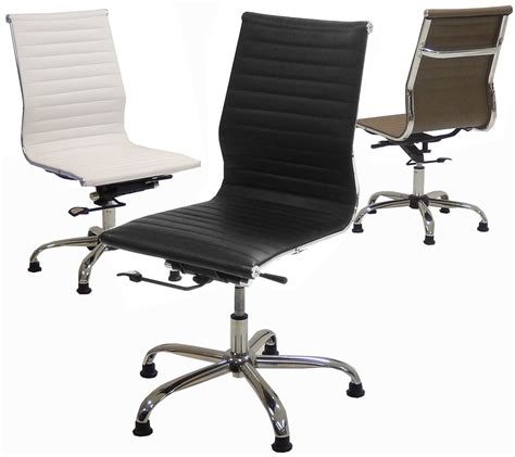 armless leather desk chair armless office chairs modern home ideas collection