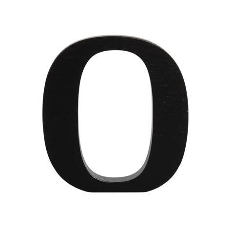 Black Letter wooden letter o black