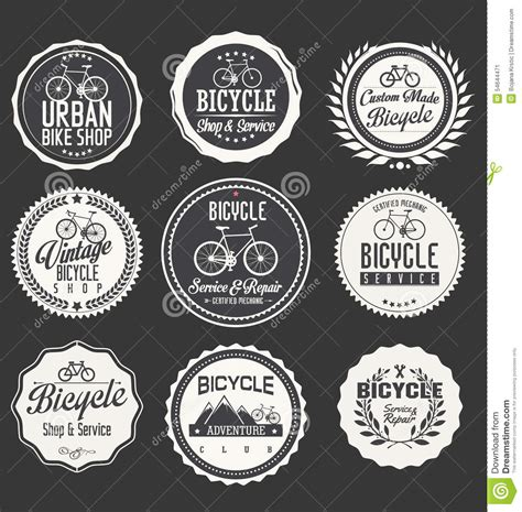 Fahrrad Aufkleber Retro fahrrad themenorientierter aufkleber design satz stock