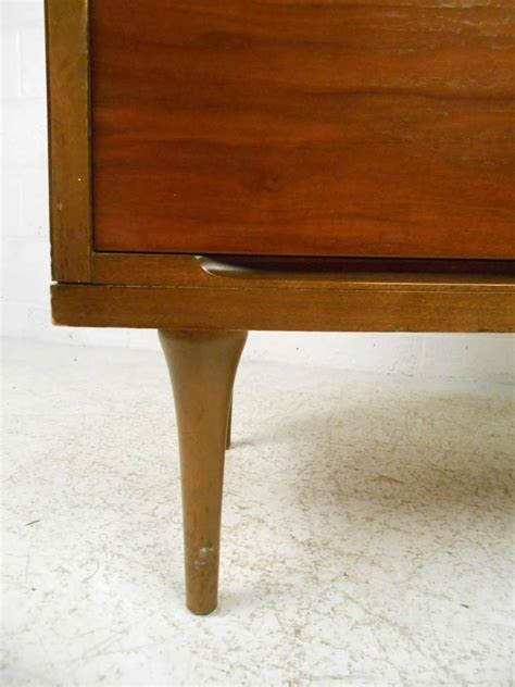 pair of walnut mid century pair of mid century modern walnut dressers for sale at 1stdibs
