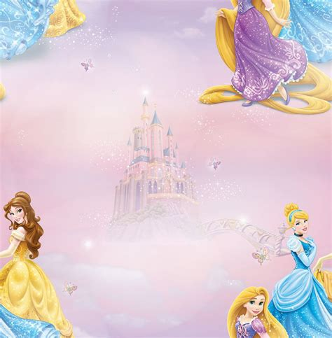 Childrens Bedroom Wall Stickers Uk decofun disney princess wallpaper decorating diy