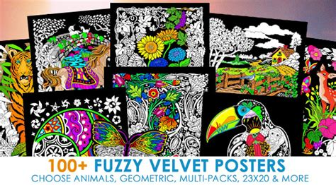 velvet posters to color fuzzy velvet posters to color line posters