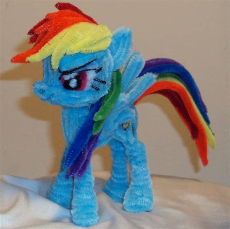 crafts to do with pony pipe cleaner rainbow dash by ponycrafter on deviantart