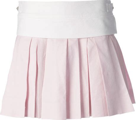 wang pleated mini skirt in pink pink purple