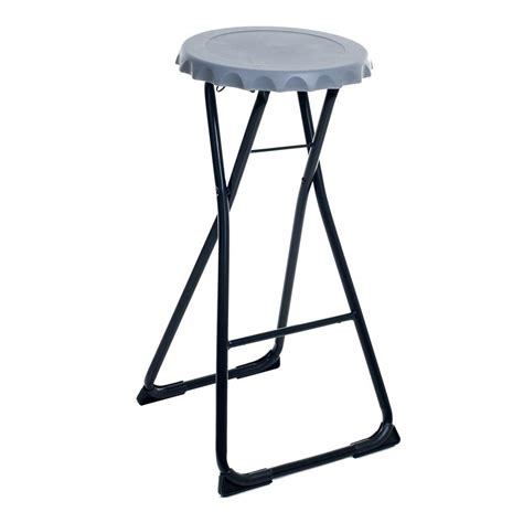 Folding Bar Stools by Stalwart Folding Bottle Cap Stool 82 Ss13046 Lg The Home Depot