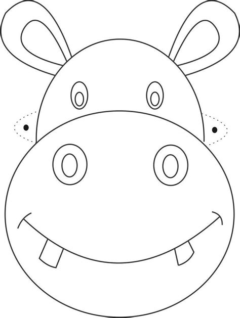 printable mask template free hippo mask printable coloring page for kids 199 izimler