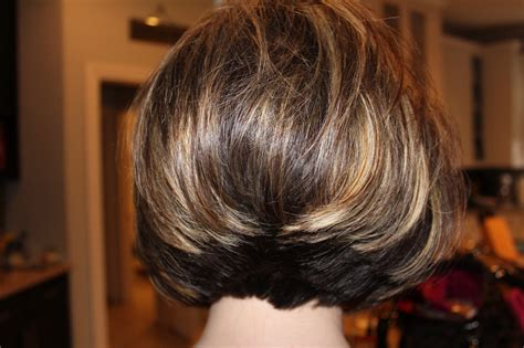 different hairstyles of an elevated bob hairstyle stacked bob hairstyles back view haircuts black