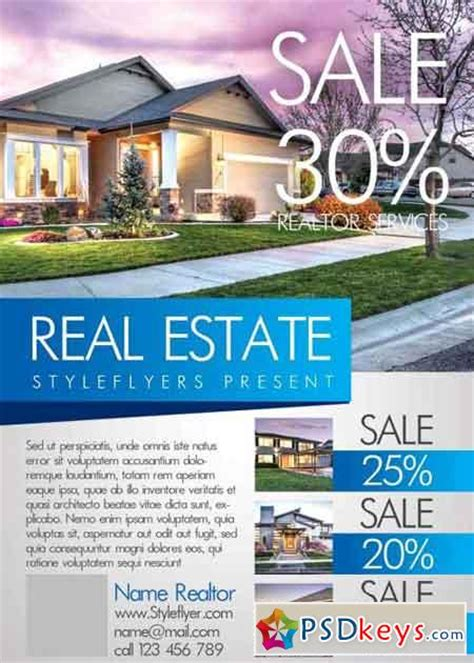 real estate flyer templates for photoshop real estate v5 psd flyer template 187 free download