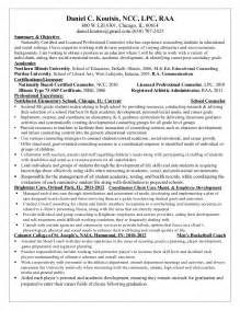 Counselor Resume Sles by Counselor Resume Resume Format Pdf