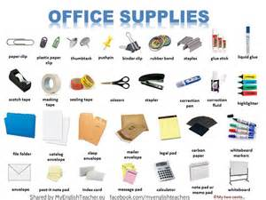 Office Supplies Names Office Supplies Vocabulary