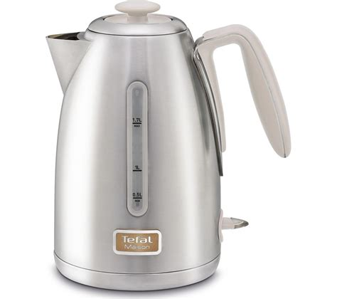 stainless steel kettle buy tefal maison ki260auk jug kettle stainless steel oatmeal grey free delivery currys