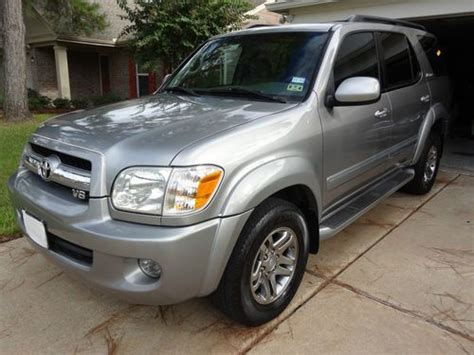 Toyota Sequoia Mpg Sell Used 2005 Toyota Sequoia Limited Sport Utility 4 Door