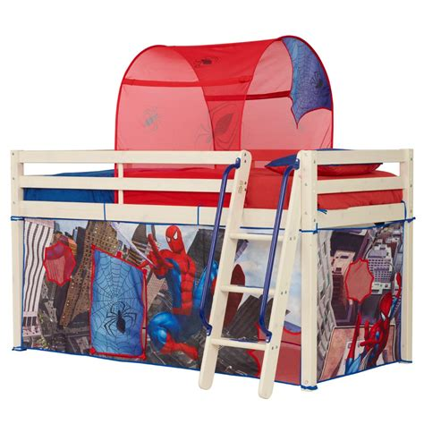 spiderman bunk bed spiderman mid sleeper bed tent new boxed spider man ebay