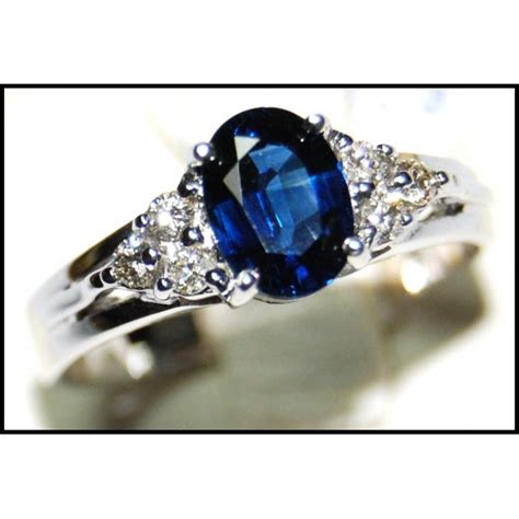 18k white gold solitaire unique blue sapphire ring