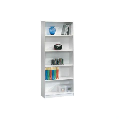 Sauder Beginnings 5 Shelf Bookcase In Soft White Sauder Beginnings 5 Shelf Bookcase