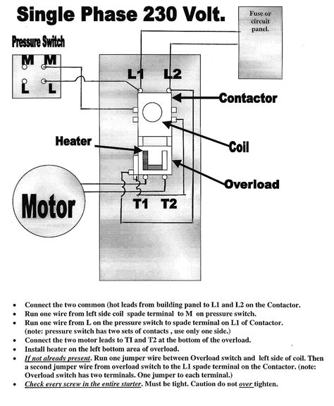 electric motor wiring diagram single phase wiring