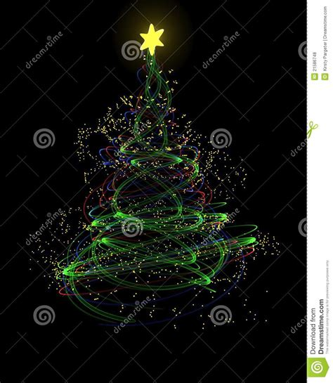 neon christmas tree concept stock illustration image