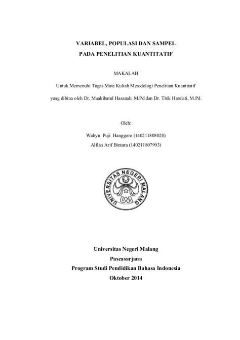 Metodologi Penelitian Anwar Sanusi makalah met pen kuan variabel populasi sel