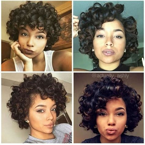 Roller Set Hairstyles For Black Hair by Large Rollers For Curly Hair Curly Hair