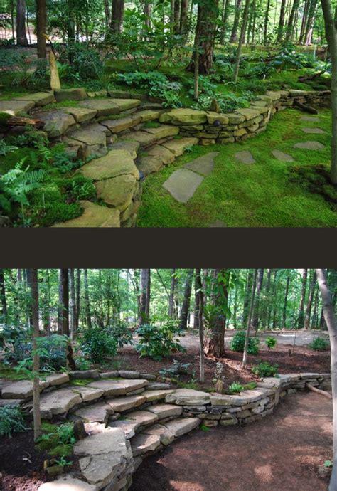 25 best ideas about rock wall gardens on