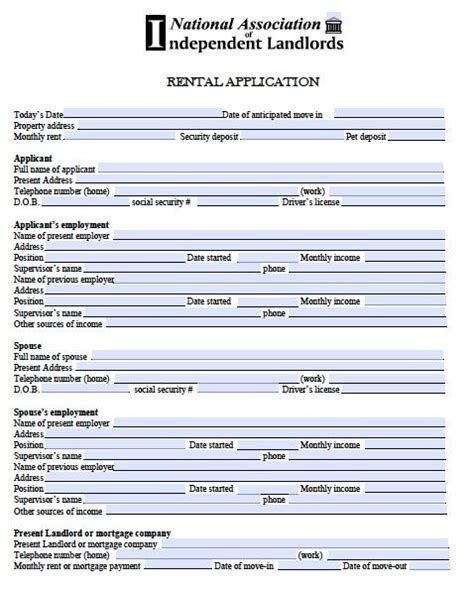real estate rental application form template printable sle free rental application form form real
