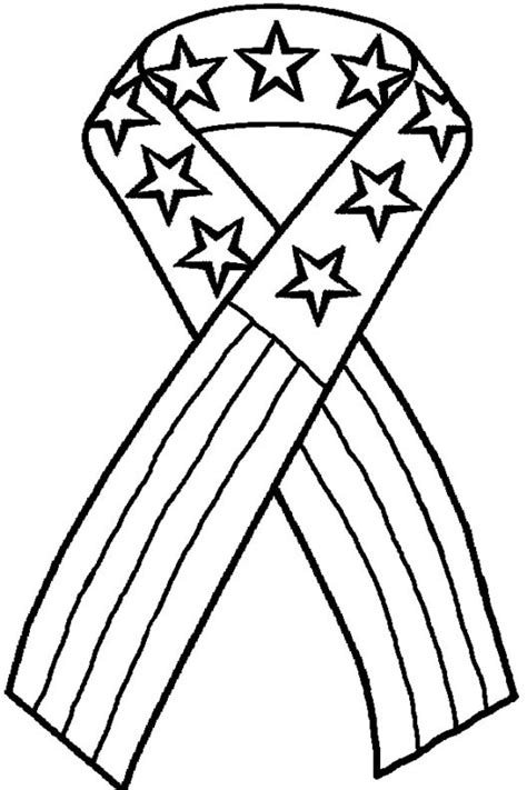 Patriotic Ribbon Coloring Page | 4th of july coloring pages allkidsnetwork com