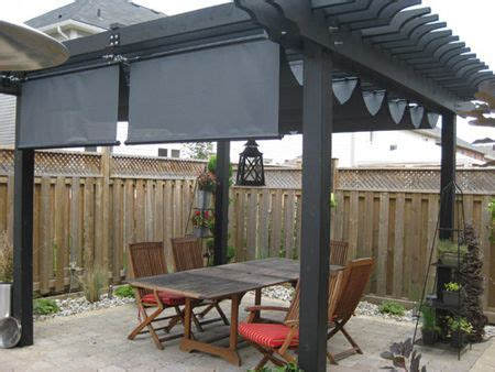pergola retractable wavy shade cloth project ideas