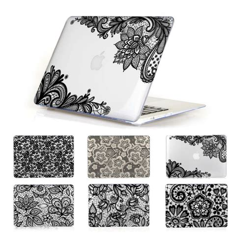 Best Tas Macbook Pro 13 Clear n 186 lace pattern clear ᗖ cover cover for apple